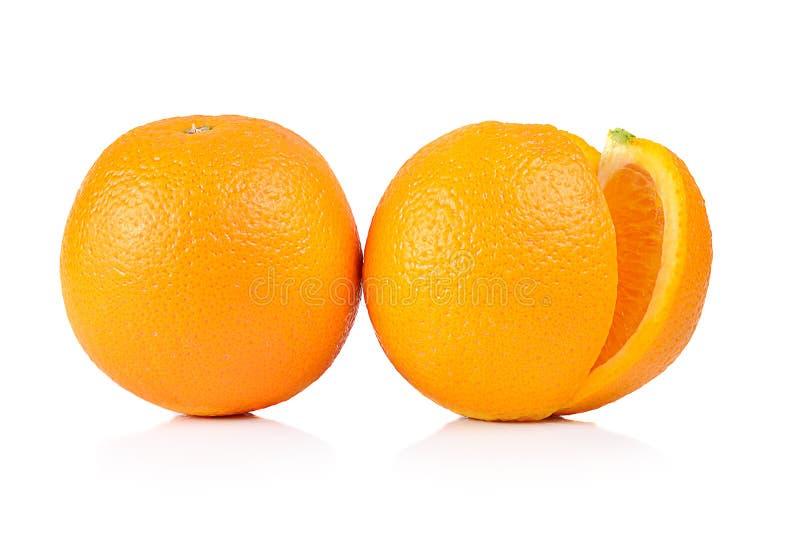 Naranja aislada en el fondo blanco imagen de archivo libre de regalías
