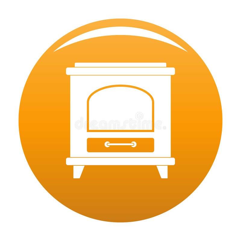 Naranja antigua del vector del icono del horno ilustración del vector