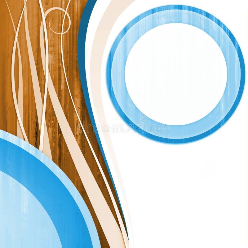 Naranja azul blanca del círculo stock de ilustración