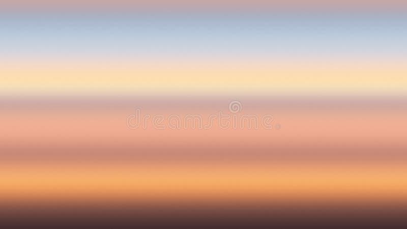 Naranja azul de la puesta del sol de la pendiente del fondo, amanecer ligero stock de ilustración