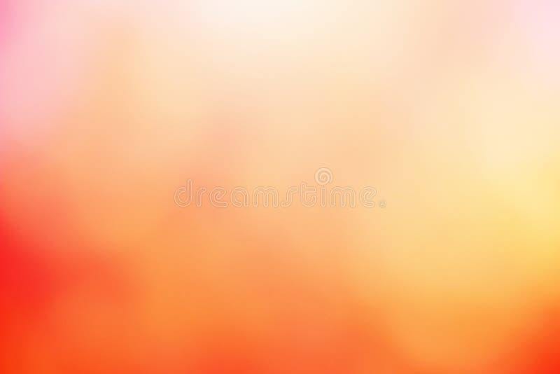 Naranja borrosa abstracta y fondo del color rojo fotografía de archivo libre de regalías
