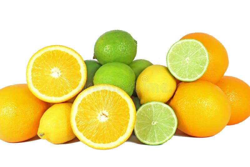 Naranja, cales y limón imágenes de archivo libres de regalías