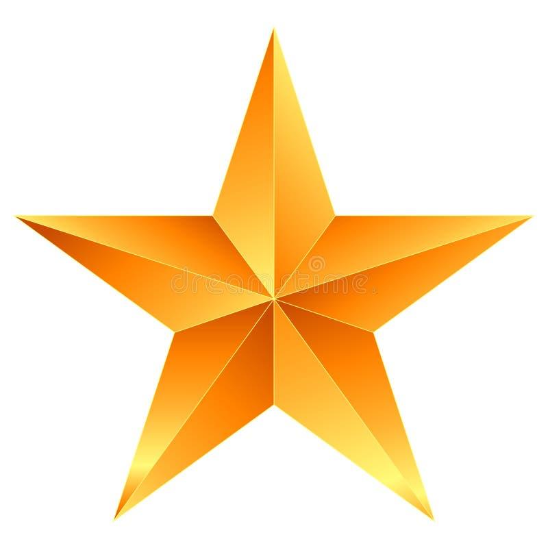 Naranja de la estrella de la Navidad - estrella de 5 puntos - aislada en blanco libre illustration
