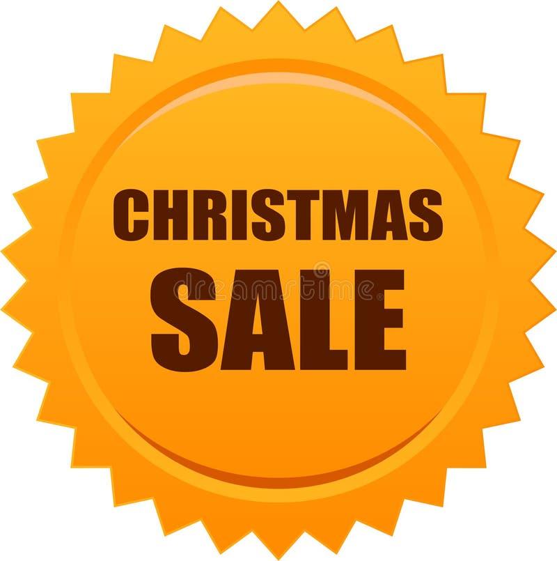 Naranja de la insignia del sello del sello de la venta de la Navidad libre illustration