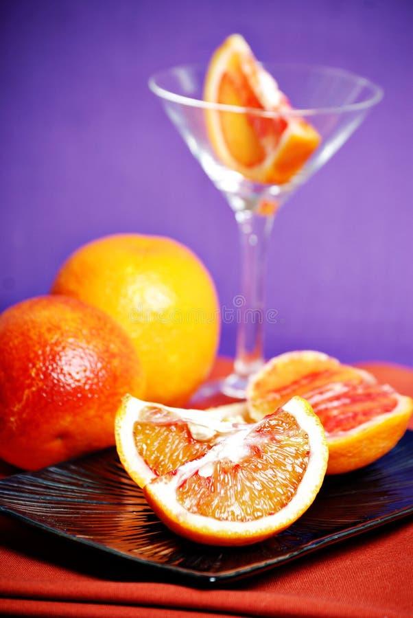 Naranja de sangre martini imagen de archivo