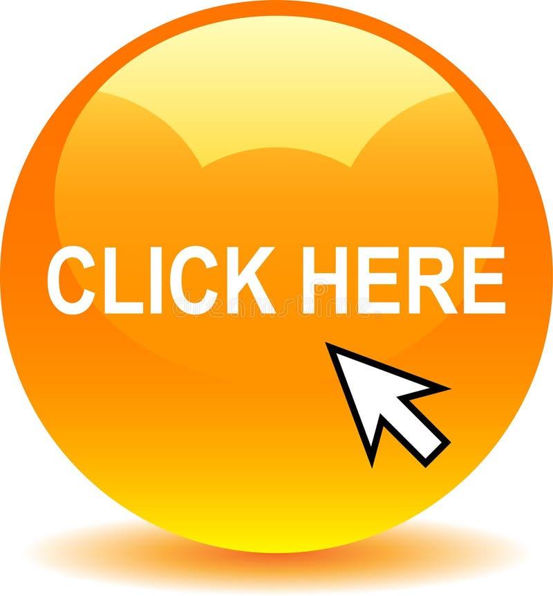Naranja del botón del web de los ajustes libre illustration
