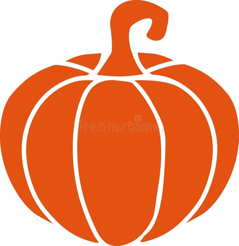 Naranja del icono de la calabaza stock de ilustración