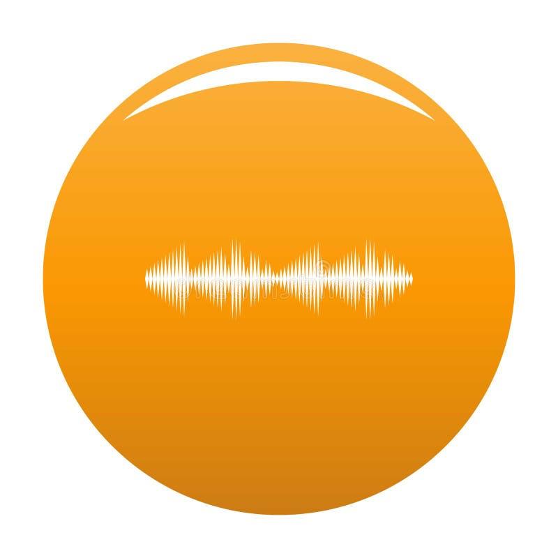 Naranja del icono de la voz del equalizador stock de ilustración