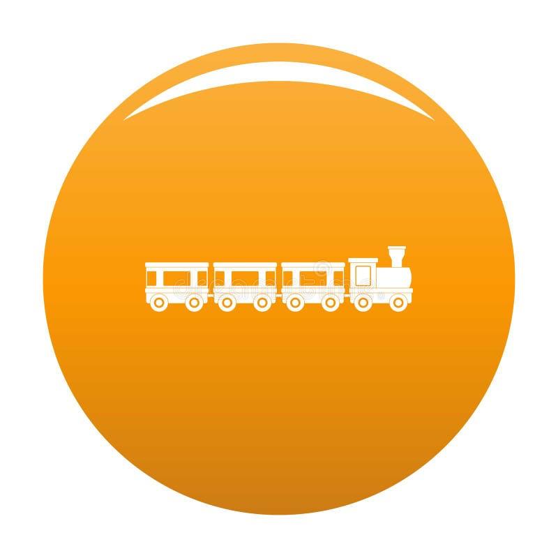 Naranja del icono de los carros ilustración del vector