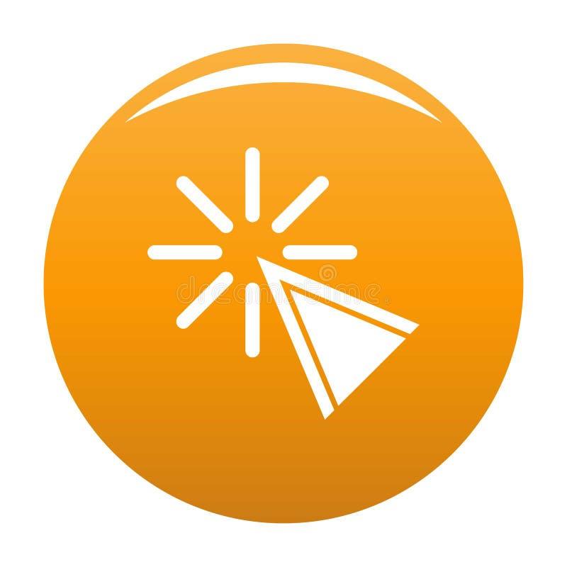 Naranja del icono del tecleo del cursor libre illustration