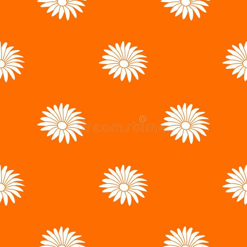 Naranja del vector del estampado de plores de Gerber ilustración del vector
