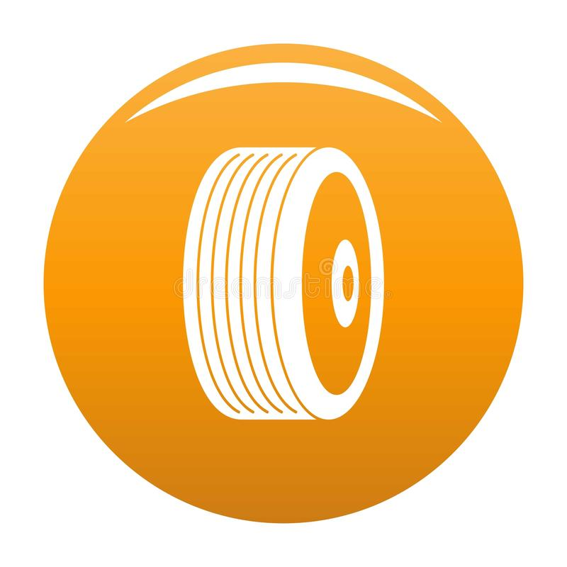 Naranja del vector del icono del disco libre illustration
