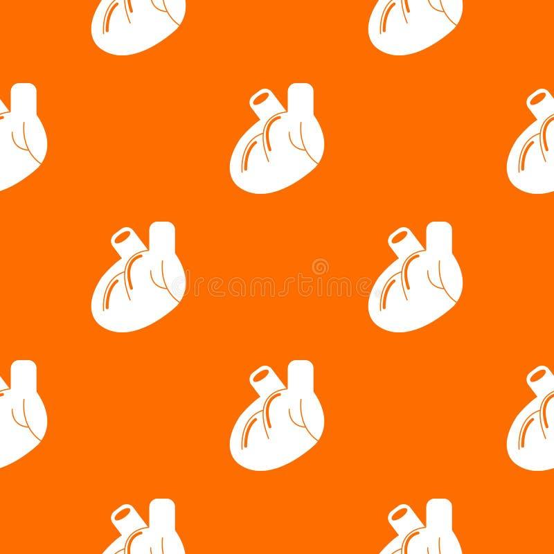 Naranja del vector del modelo del órgano del corazón stock de ilustración