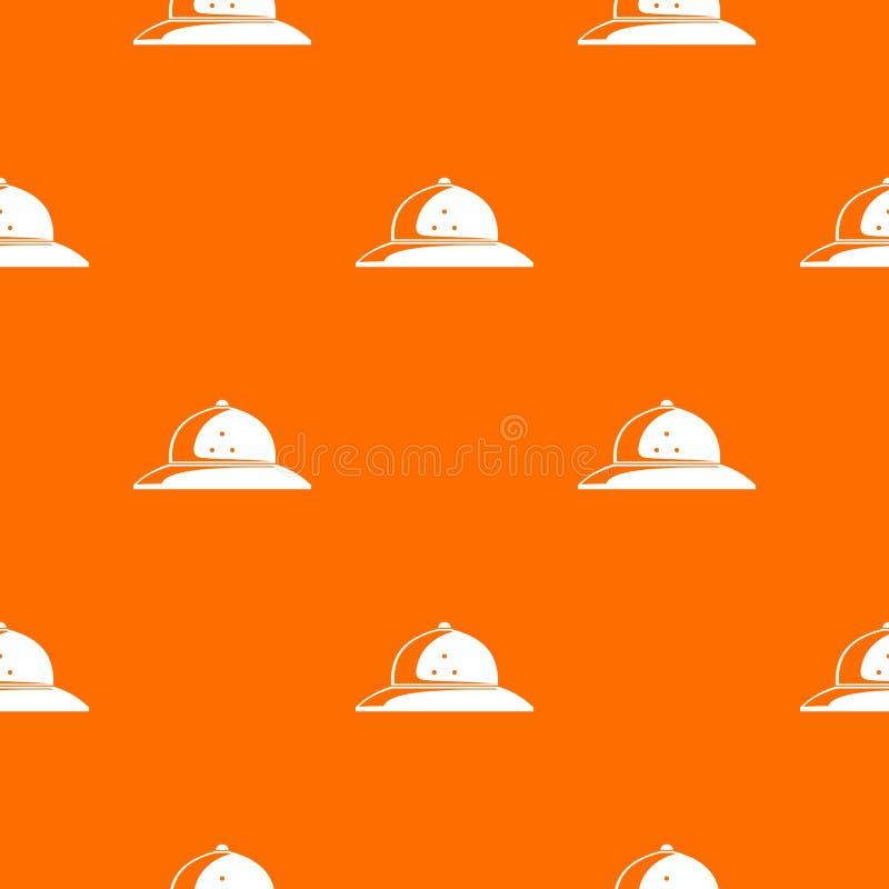 Naranja del vector del modelo del casco del corcho libre illustration