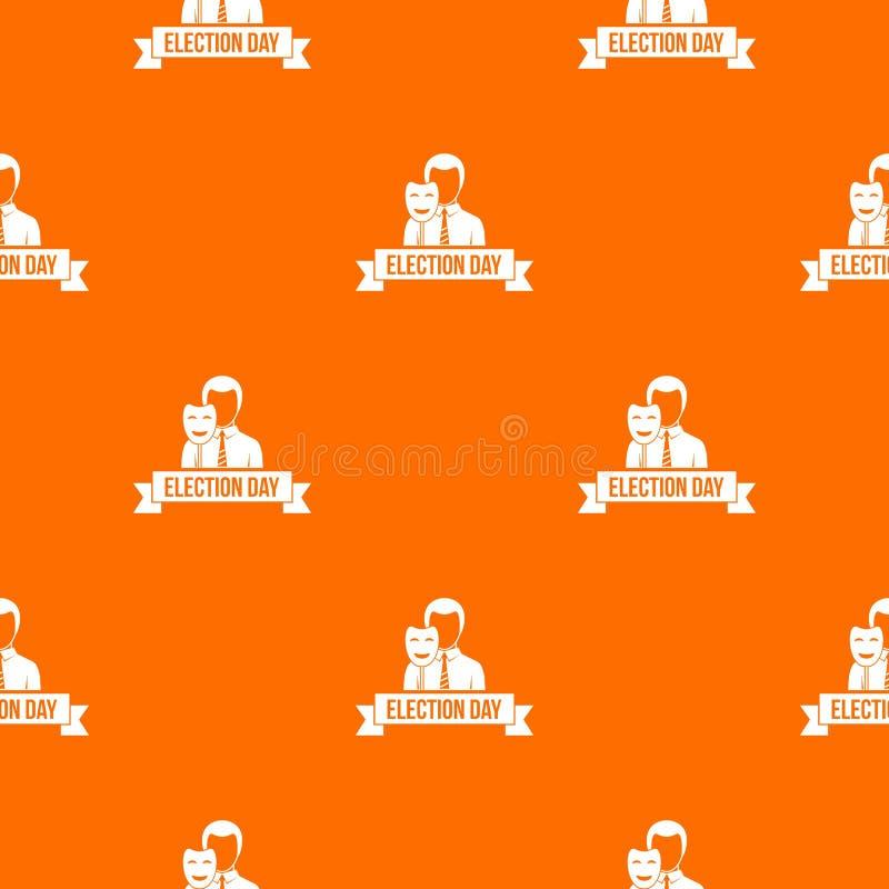Naranja del vector del modelo del día de elección stock de ilustración