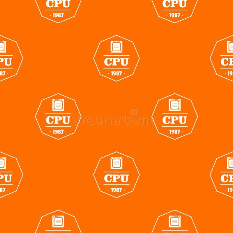 Naranja del vector del modelo de la CPU stock de ilustración