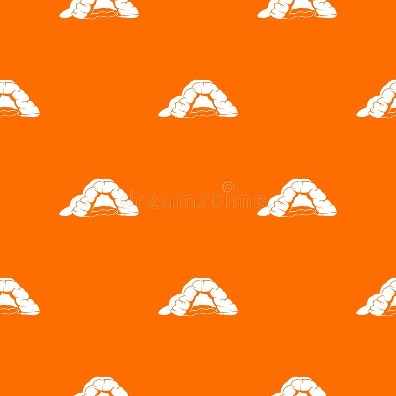 Naranja del vector del modelo de la cueva ilustración del vector