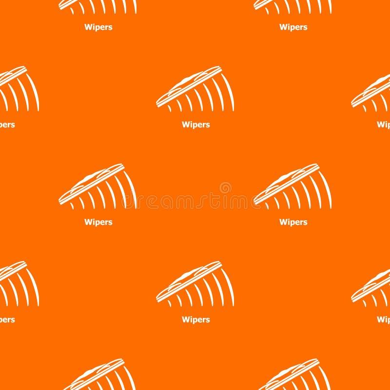 Naranja del vector del modelo de los limpiadores stock de ilustración