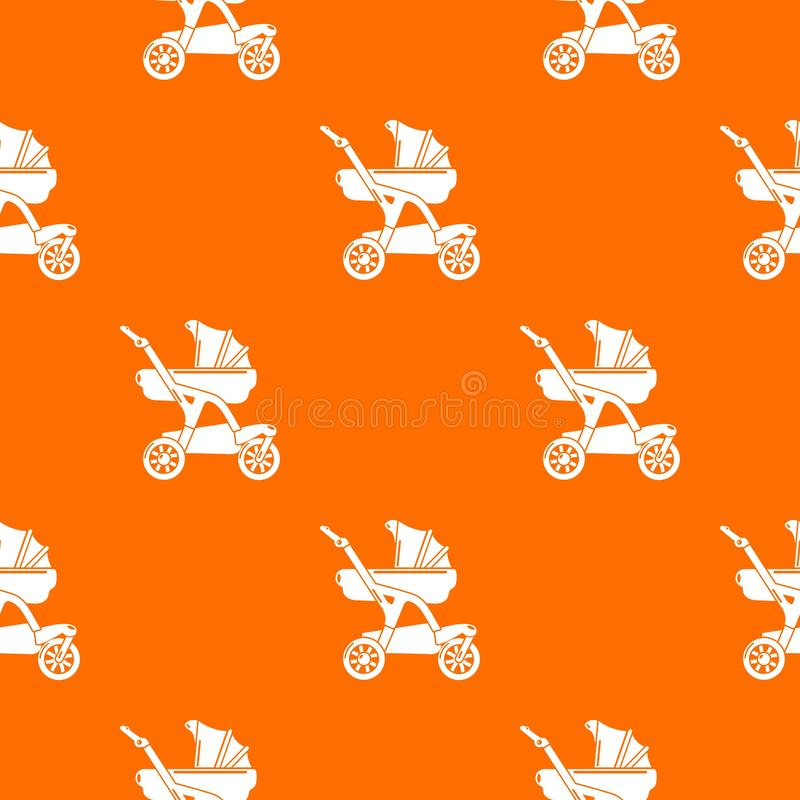 Naranja del vector del modelo del diseñador del carro de bebé ilustración del vector