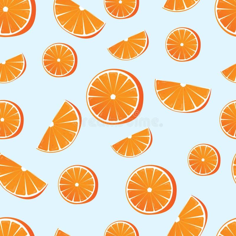 Naranja dulce Ejemplo del vector de una naranja en un fondo azul Fruta jugosa y de fascinación EPS 10 libre illustration