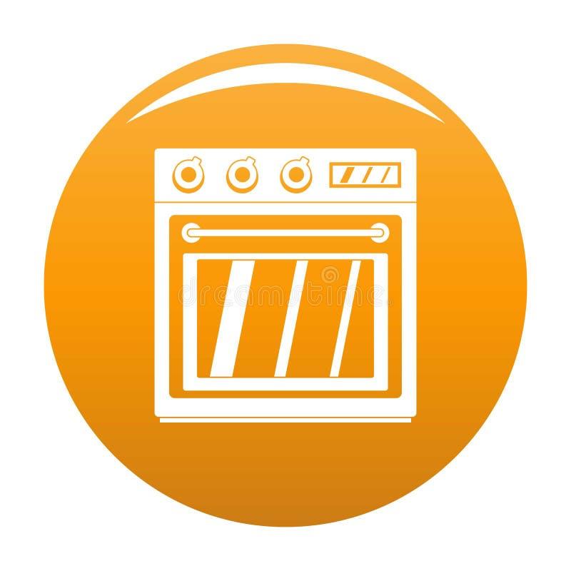 Naranja eléctrica del icono del horno stock de ilustración