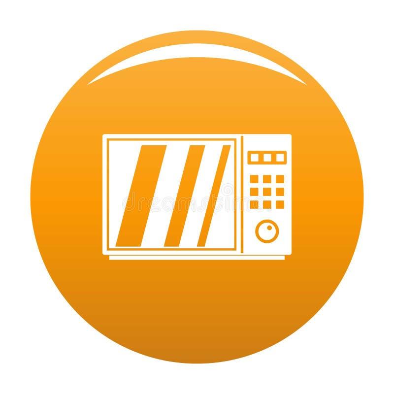 Naranja eléctrica del icono del horno de microondas stock de ilustración