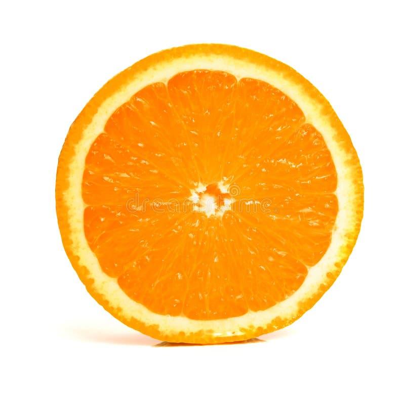 Naranja en blanco imagen de archivo