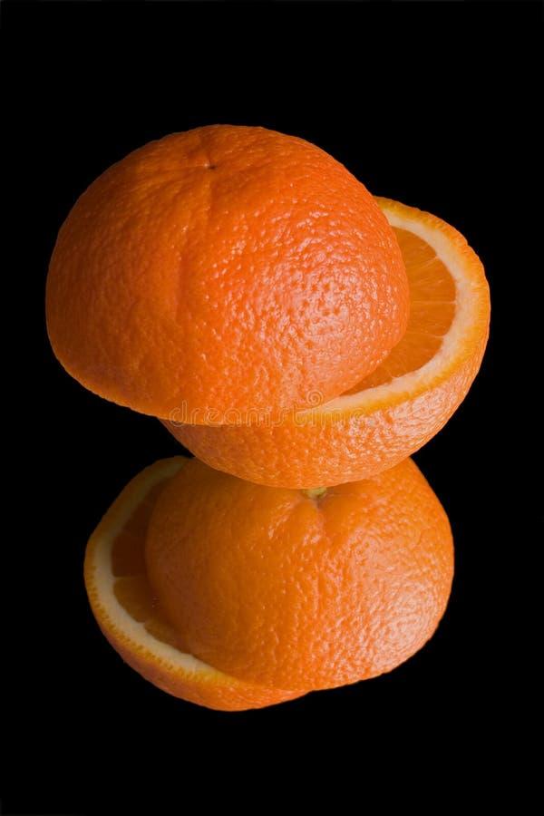 Naranja en el espejo fotos de archivo libres de regalías
