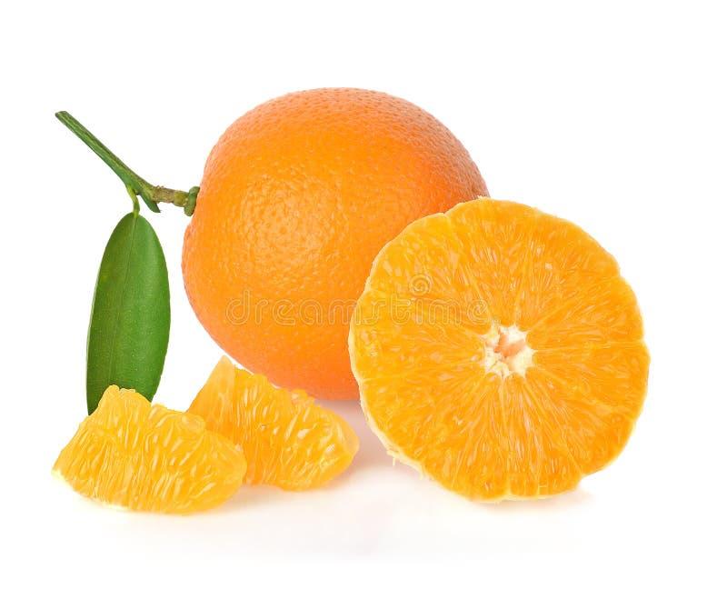Naranja en el fondo blanco imagen de archivo