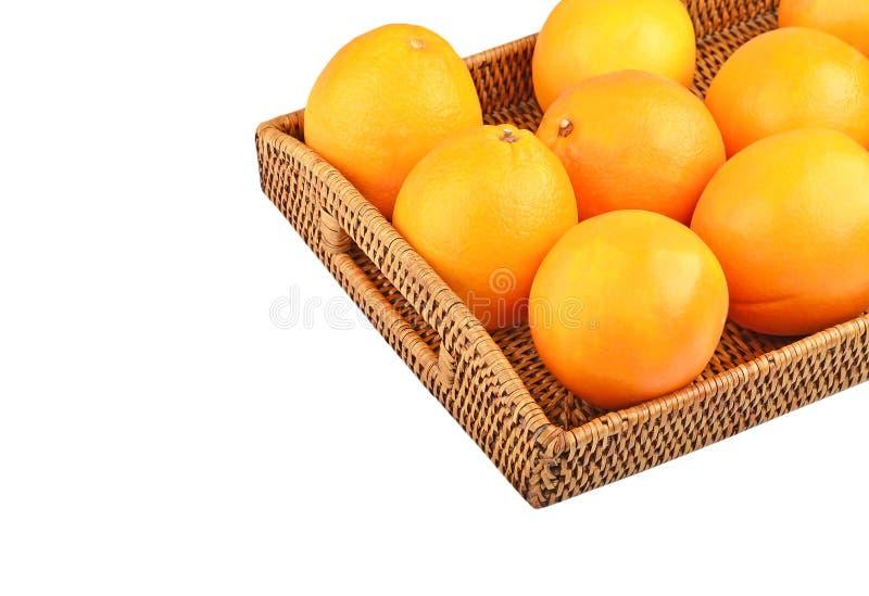 Download Naranja En La Bandeja Wickered Imagen de archivo - Imagen de : 64201859