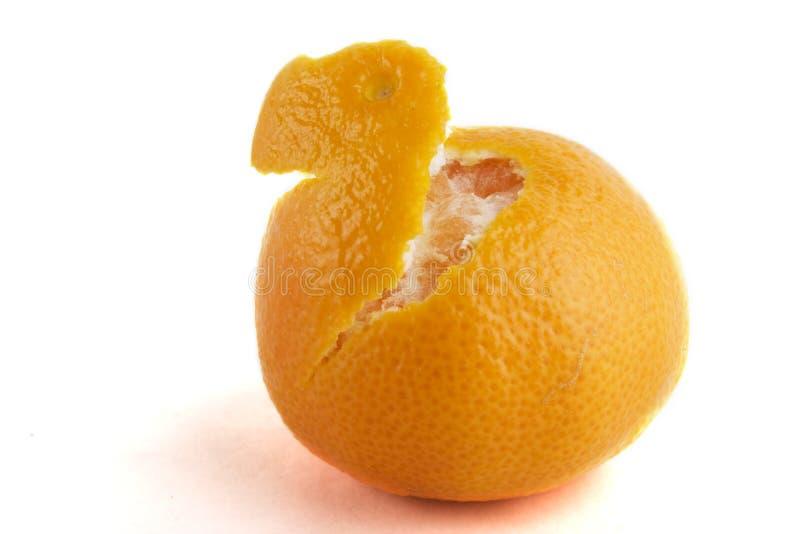 Naranja en parte pelada fotos de archivo