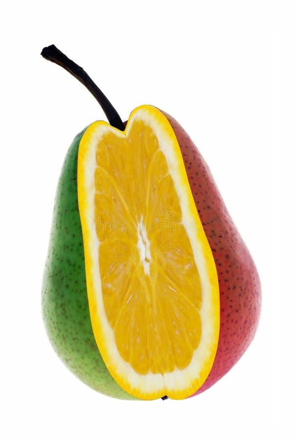 Naranja en pera foto de archivo