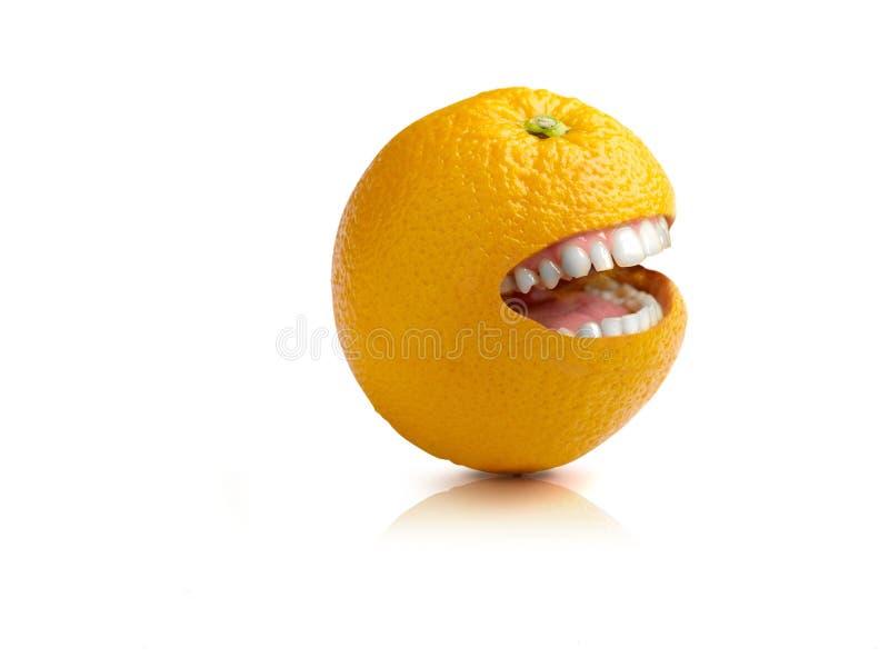 Download Naranja feliz foto de archivo. Imagen de surreal, smiling - 7151922