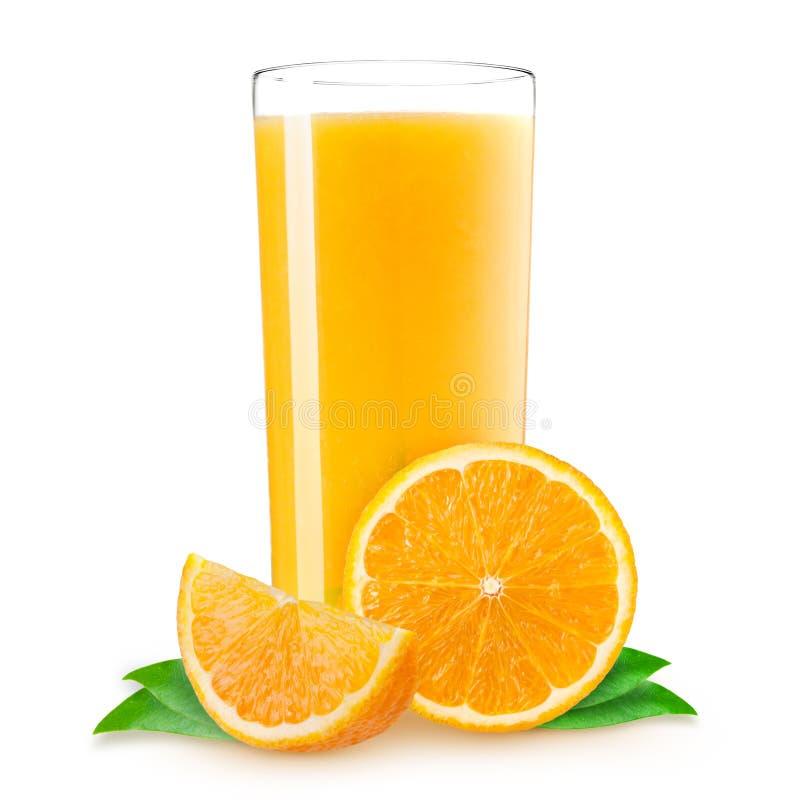 Naranja fresca en el fondo blanco foto de archivo