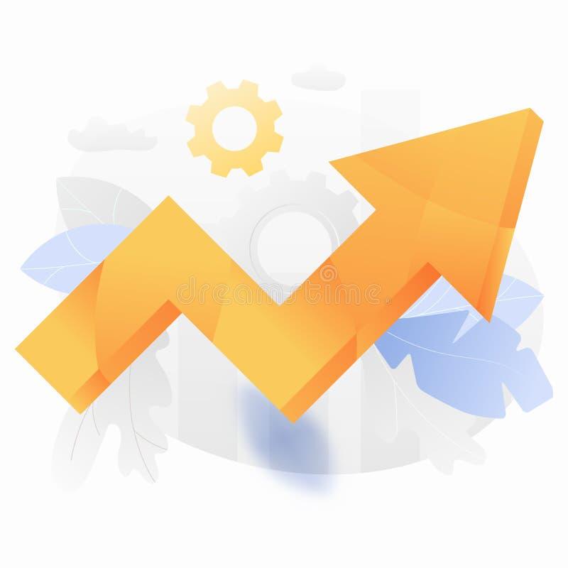 Naranja grande encima del ejemplo de la flecha ilustración del vector