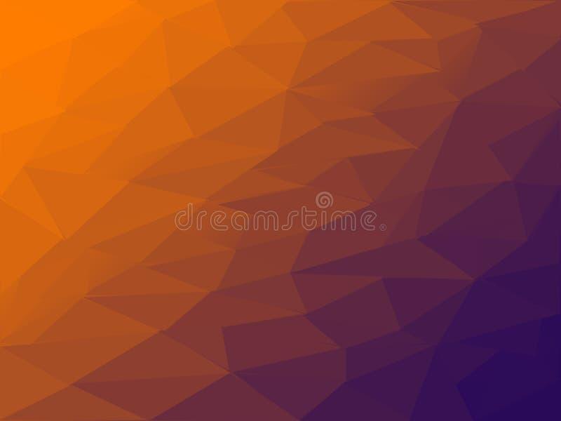 Naranja hermosa del primer y fondo y papel pintado negros del ejemplo de la textura del color stock de ilustración
