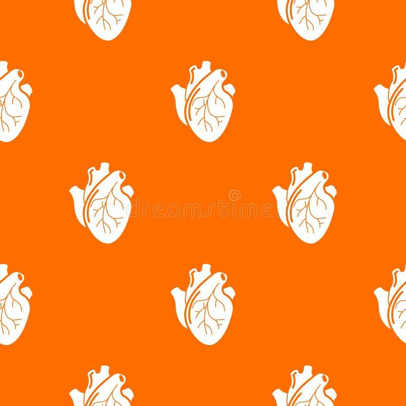 Naranja humana del vector del modelo del órgano del corazón libre illustration