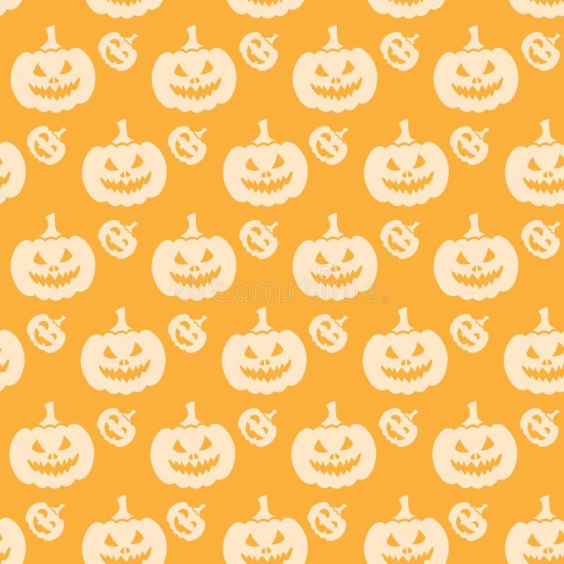 Naranja inconsútil del modelo de la calabaza de Halloween stock de ilustración