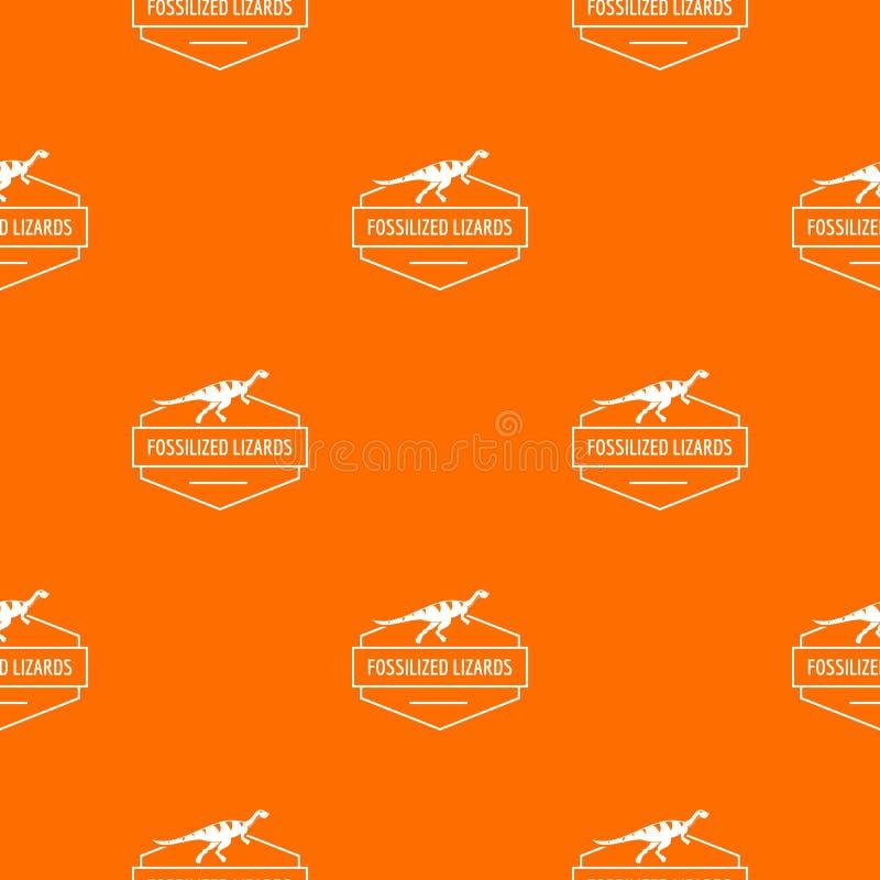 Naranja jurásica del vector del modelo del lagarto stock de ilustración