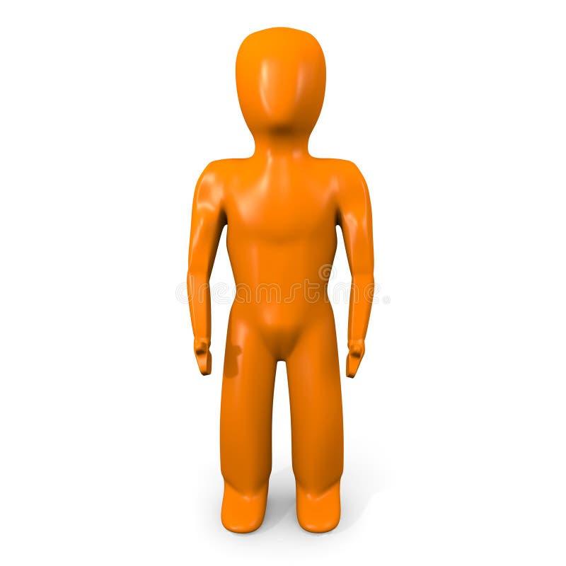 Naranja Mann vorwärts stock abbildung