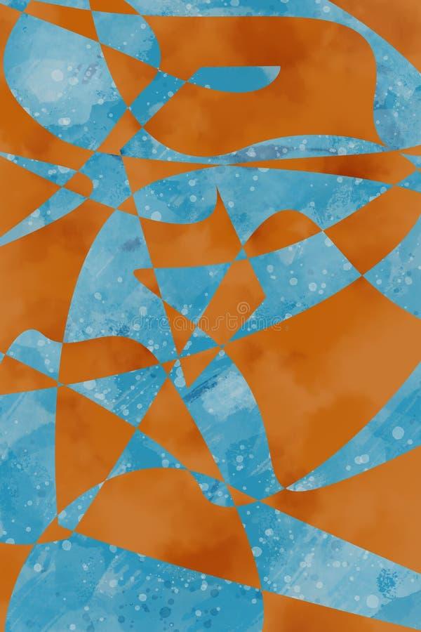 Naranja pulida en Teal Background fotografía de archivo