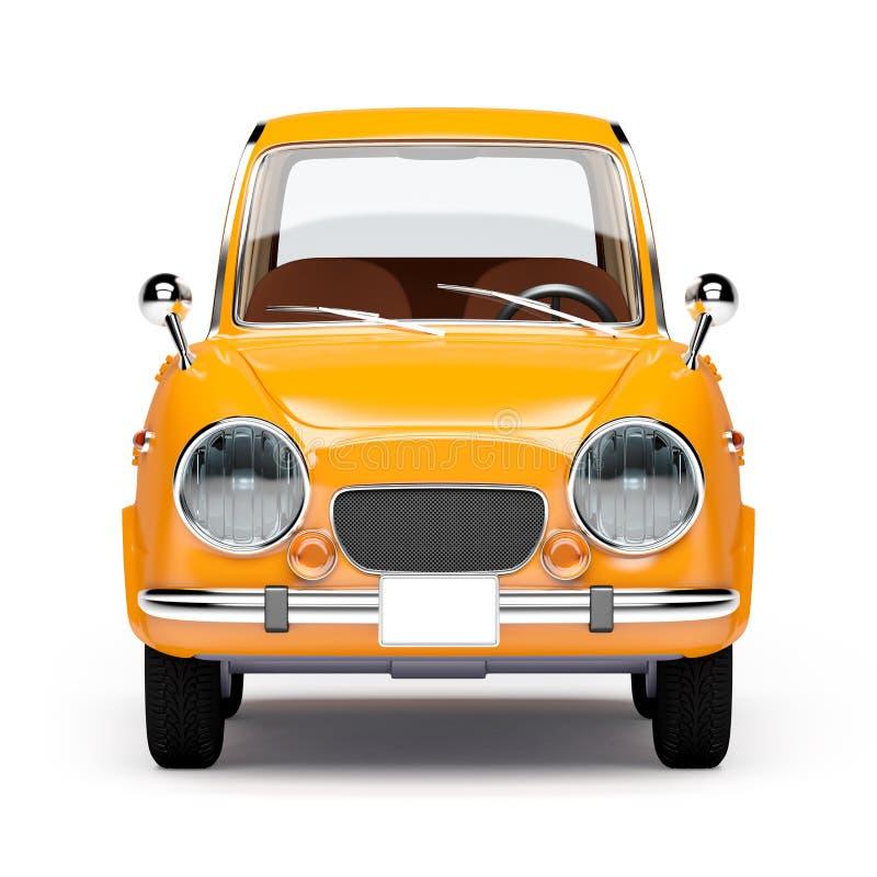 Naranja retra 1960 del coche ilustración del vector