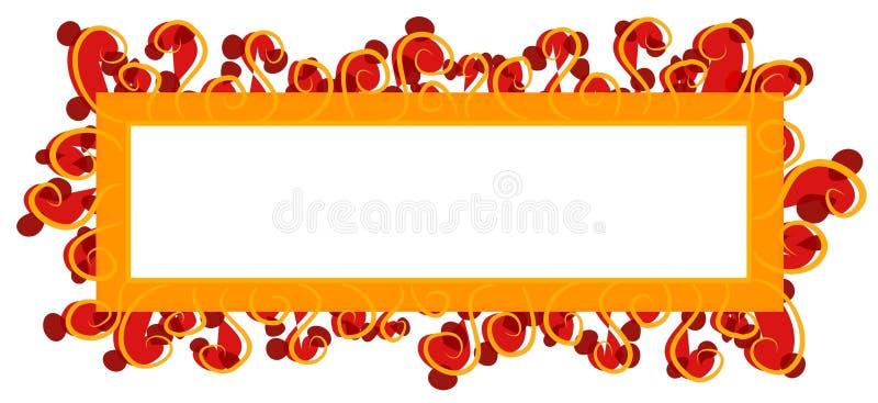 Naranja roja de la insignia del Web page ilustración del vector