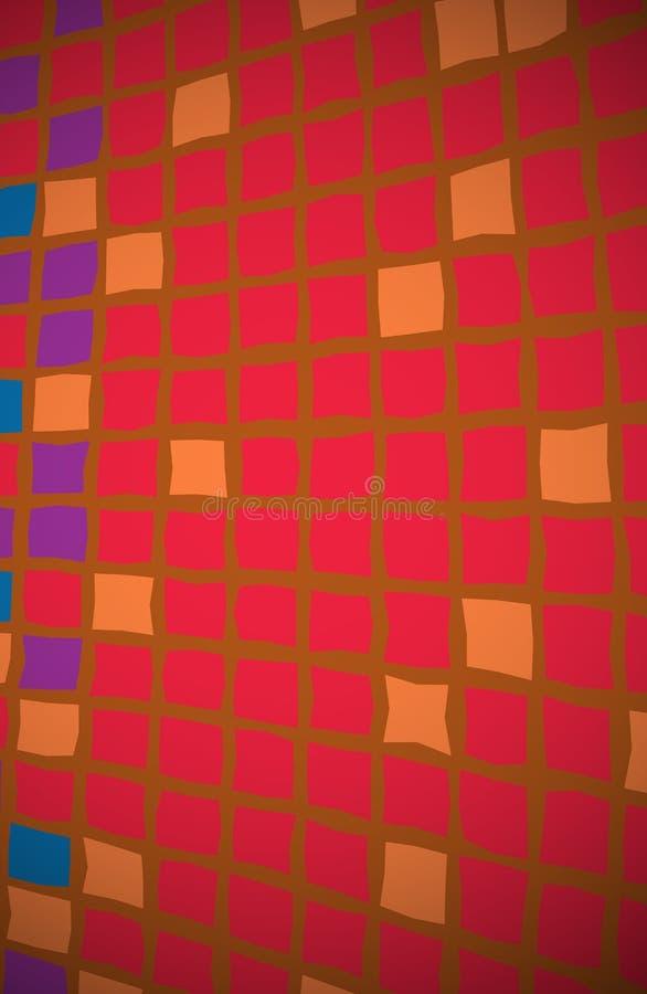 Naranja roja del fondo de los cuadrados libre illustration
