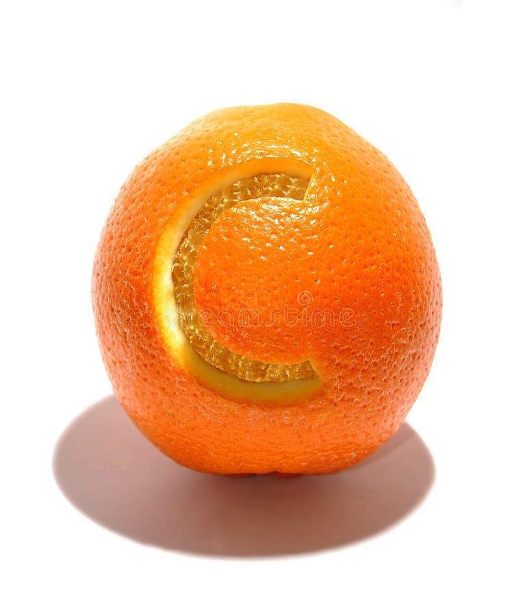 Naranja sabrosa con vitamina C fotos de archivo
