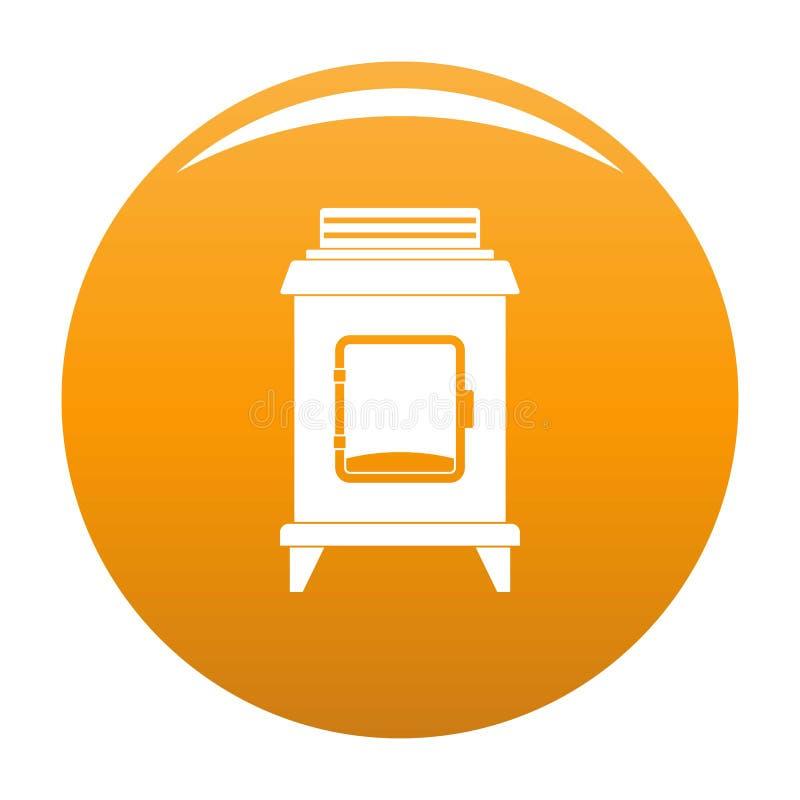 Naranja vieja del icono del horno stock de ilustración