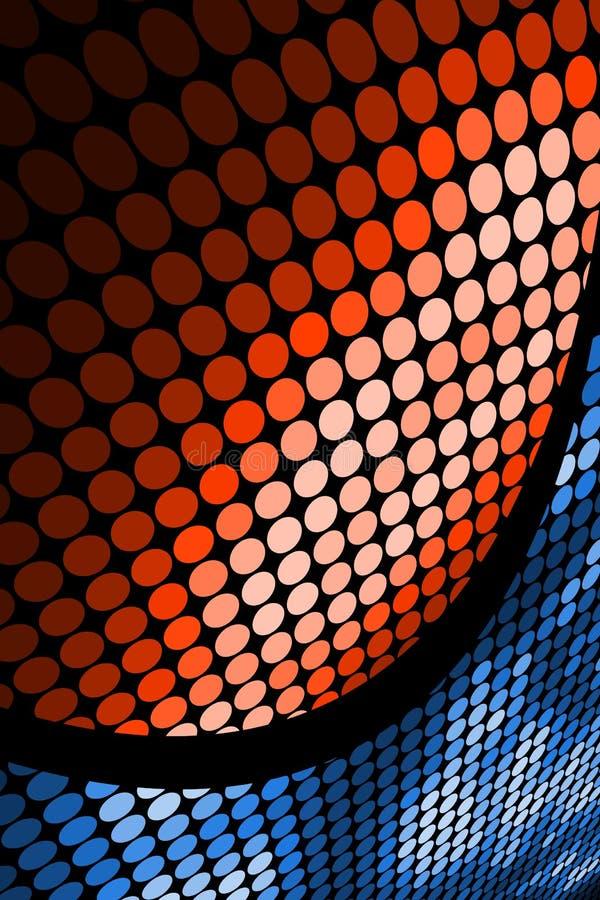 Naranja y azul stock de ilustración