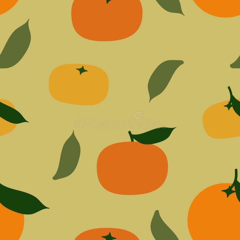 Naranja y mandarina libre illustration