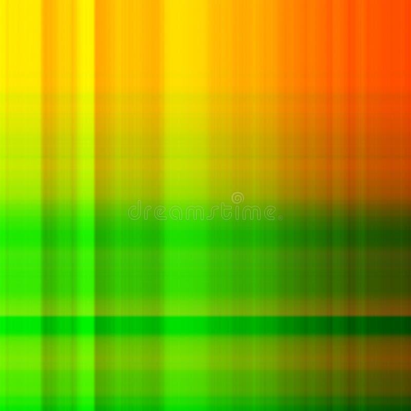 Naranja y verificación del verde ilustración del vector