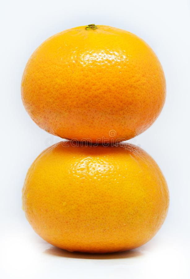 2 naranjas imágenes de archivo libres de regalías